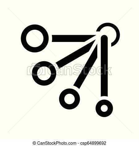 450x470 measuring spoon vector, coffee related solid style measuring