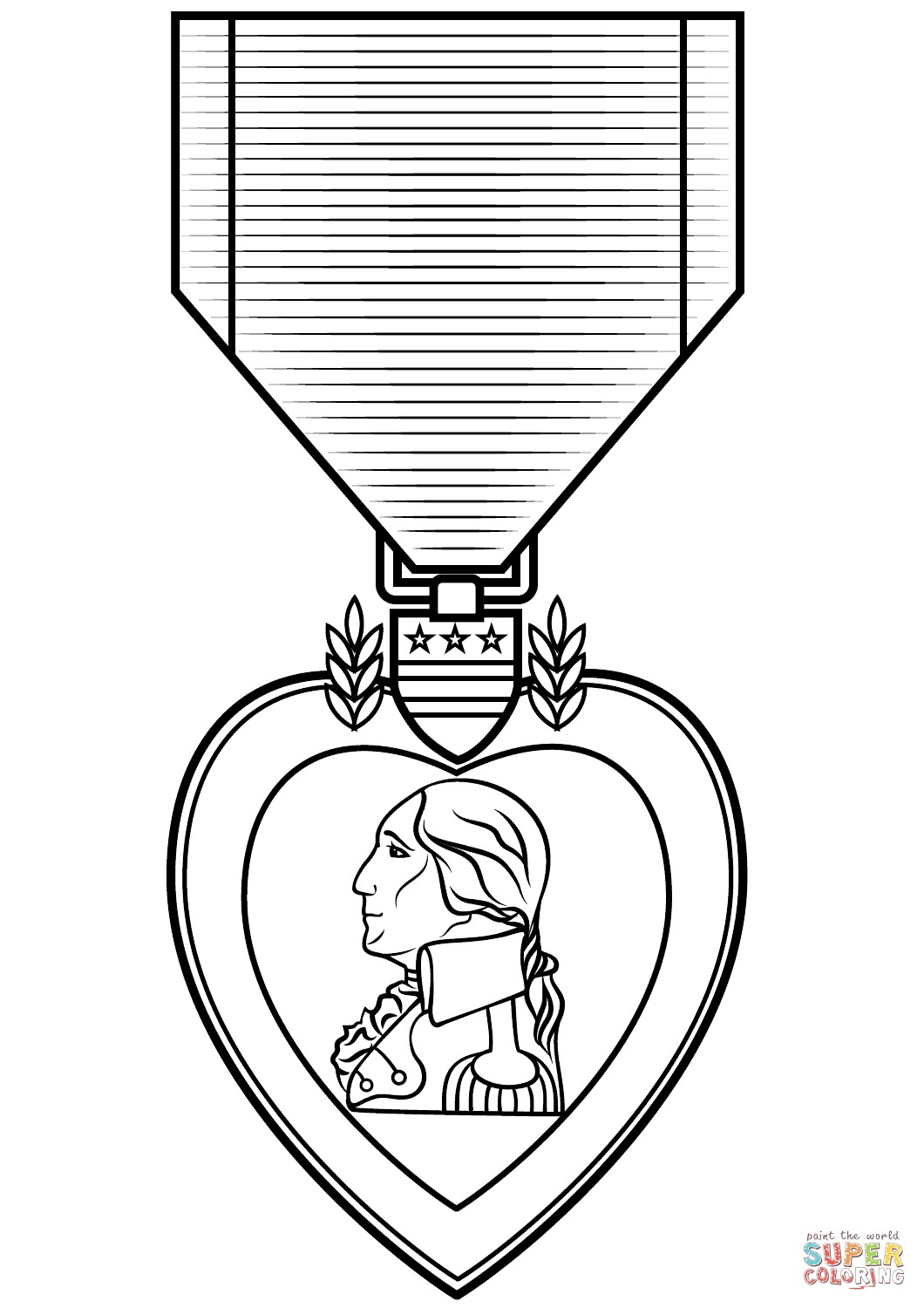 1060x1500 purple heart medal coloring pages beautiful medal drawing free