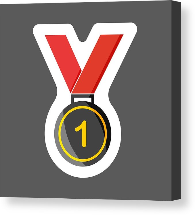 678x749 vector icon colored sticker medal medal of honor, congratulations