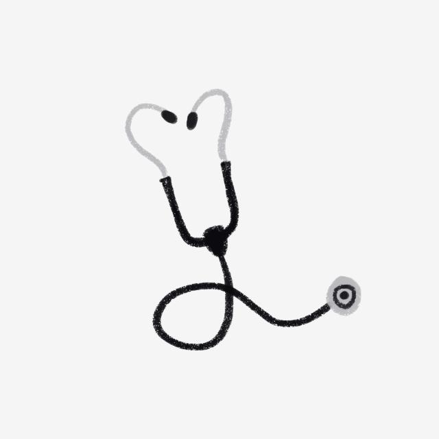 640x640 cartoon hand drawn medical equipment stethoscope equipment element