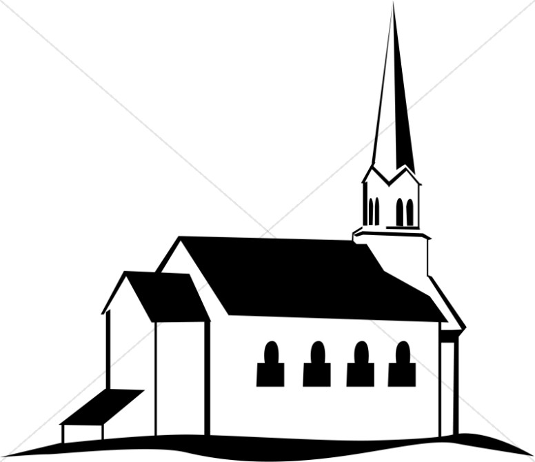 776x670 Silhouette Drawing Church For Free Download