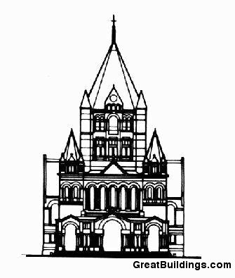 335x395 Great Buildings Drawing