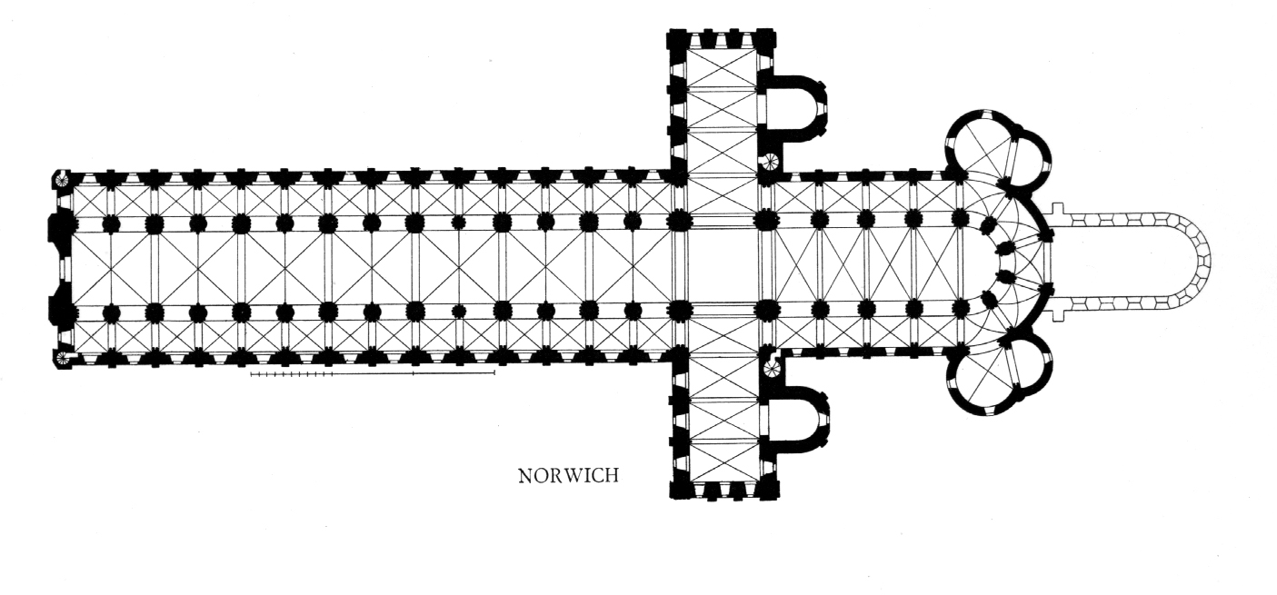 1405x655 Medieval Norwich Cathedral Plans And Drawings