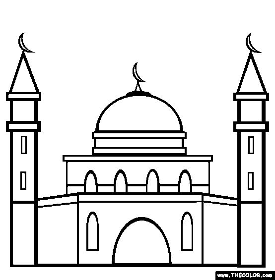 554x565 Church Drawing Mosque For Free Download