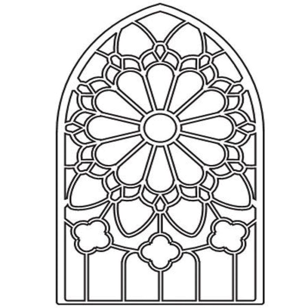 1000x1000 Stained Glass Window Coloring Pages Download And Print For Free