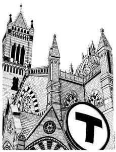 230x300 Boston's Old South Church Drawing Ebay