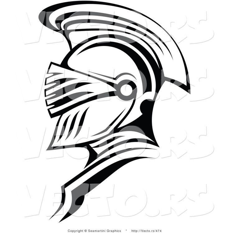 Medieval Helmet Drawing