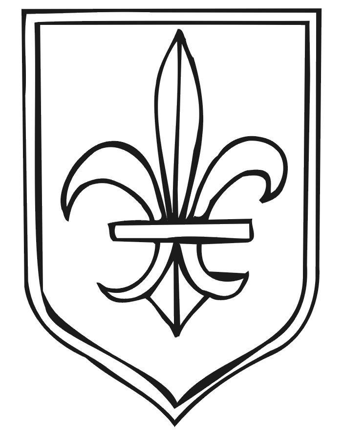 Medieval Shield Drawing
