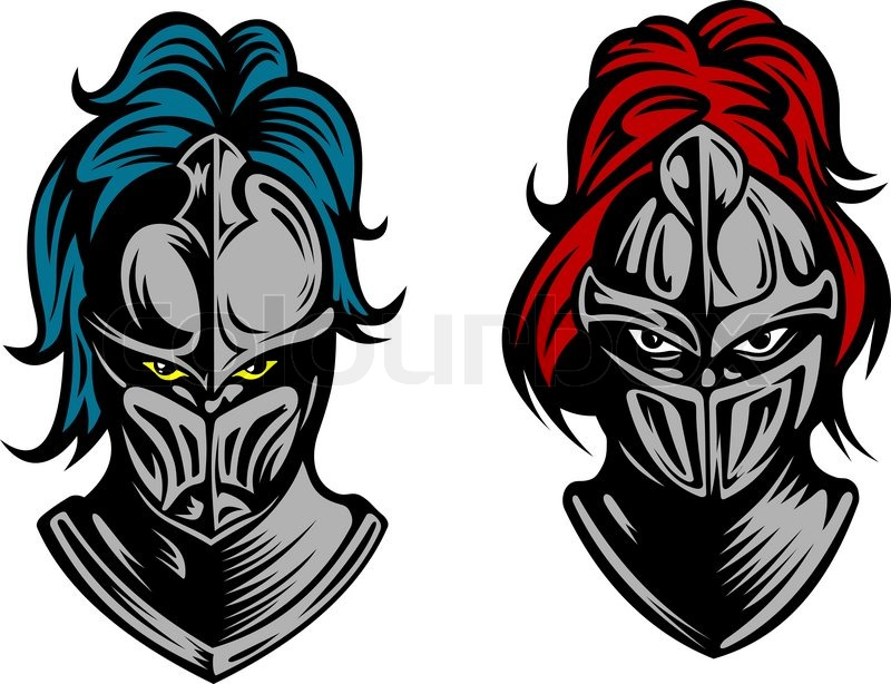 800x614 Heads Of Two Knights In Medieval Stock Vector Colourbox