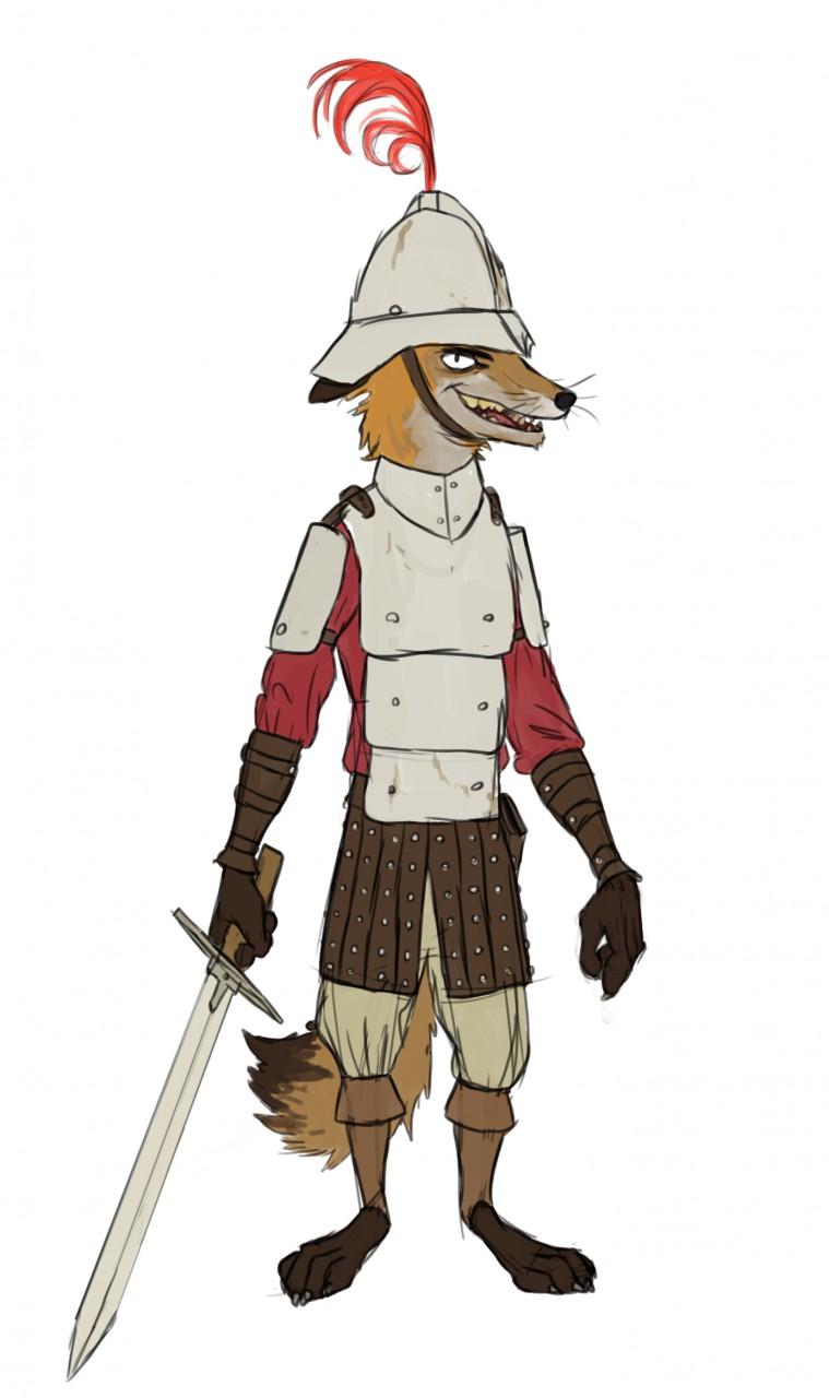 759x1280 Medieval Soldier Fox