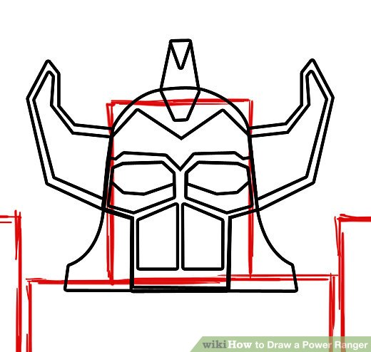 520x494 How To Draw A Power Ranger Steps