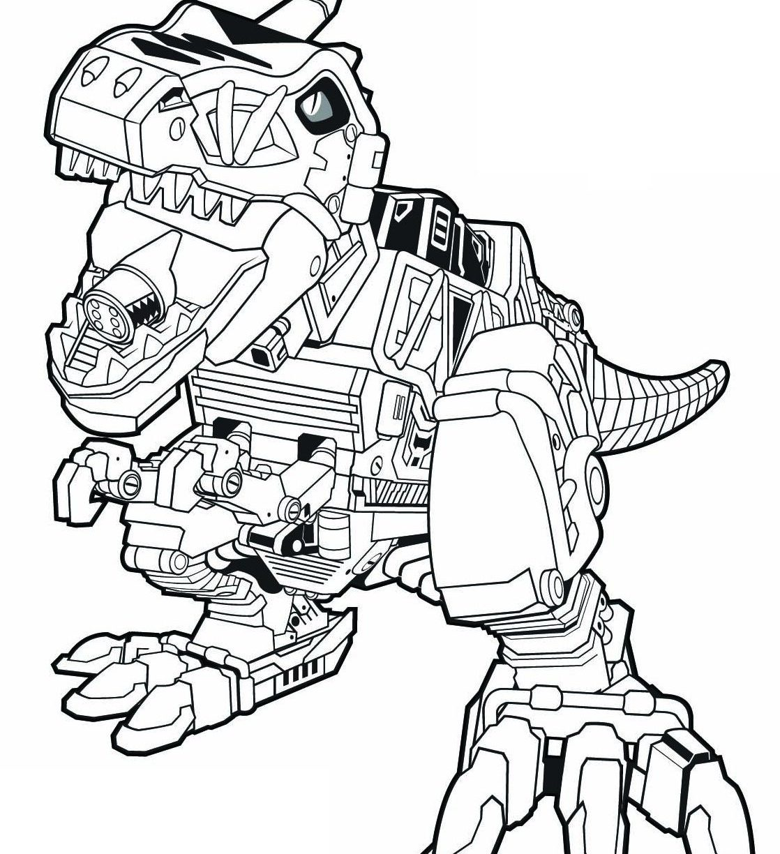 1118x1224 Powerrs Dino Charge Coloring Pages Pdf Goldr Red Colouring Free