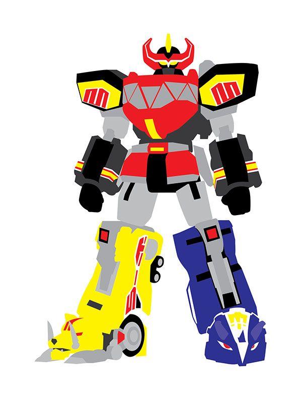600x794 Power Rangers Megazord Drawing