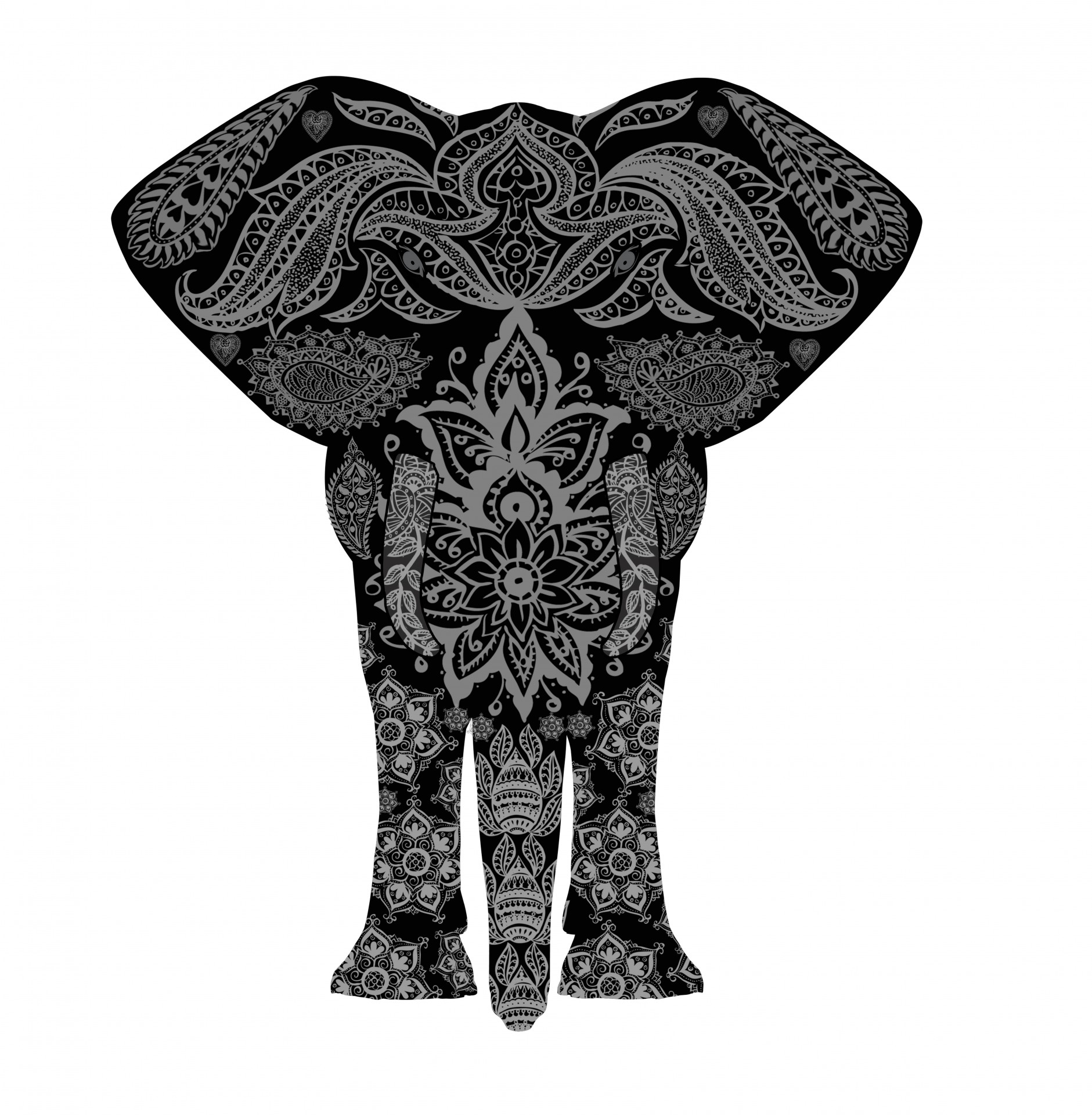 1881x1920 elephant henna mehndi pattern, mehndi, henna, pattern, animal