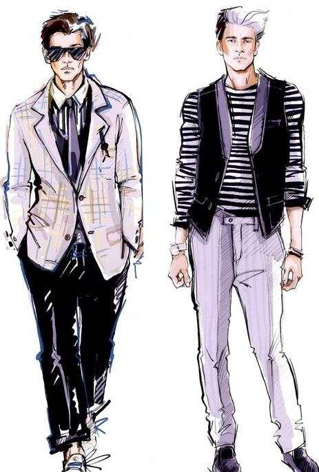 Mens Fashion Drawings