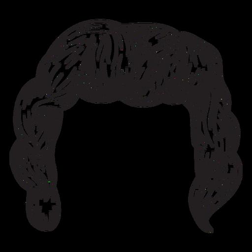 512x512 Curly Men Hair Hand Drawn