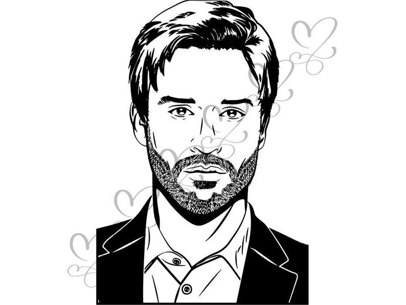 794x597 Beard Man Men Retro Style Hairstyle Barber Fashion Model Etsy
