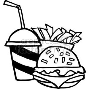 300x300 dinner clipart black and white fast food lunch dinner ff menu clip