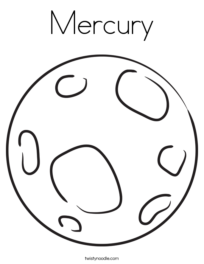 685x886 Planets Drawing Mercury For Free Download