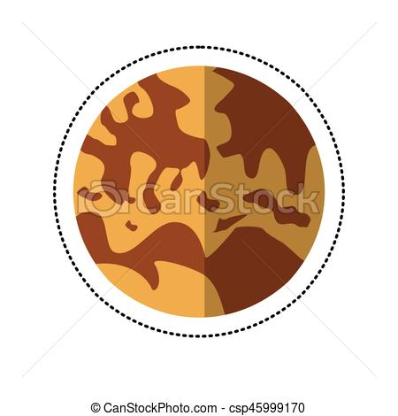 450x470 Mercury Planet Space Shadow Vector Illustration