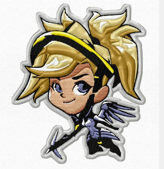 570x589 mercy cute spray patch overwatch cute patch overwatch patch etsy