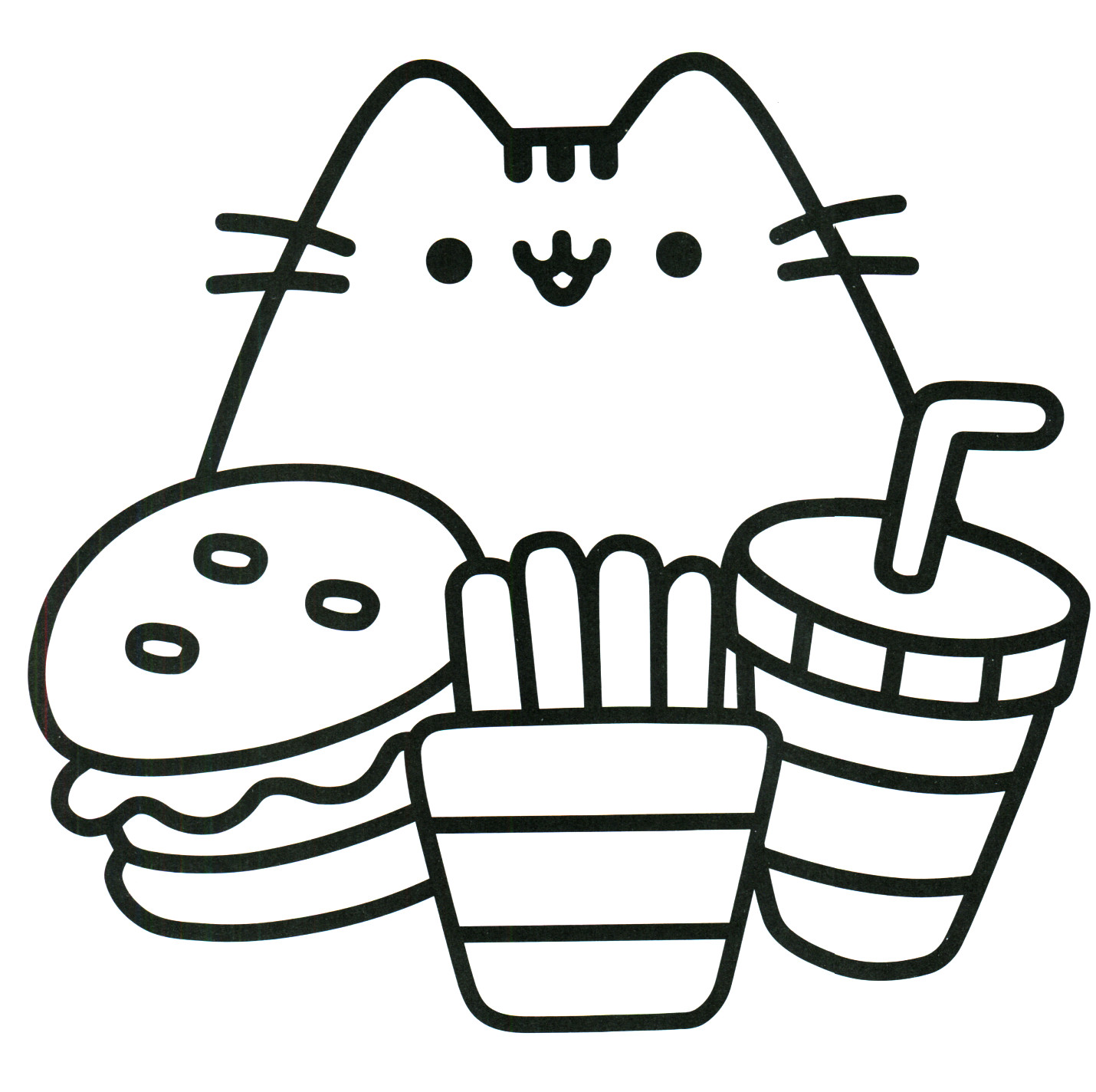 1430x1424 Printable Hello Kitty Mermaid Coloring Pages Disney Pusheen