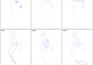 300x210 Mermaid Drawing Step