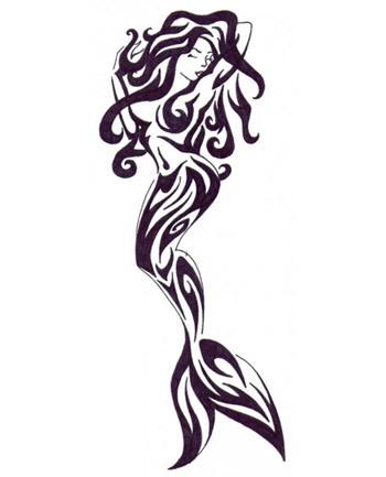 Mermaid On A Rock Drawing