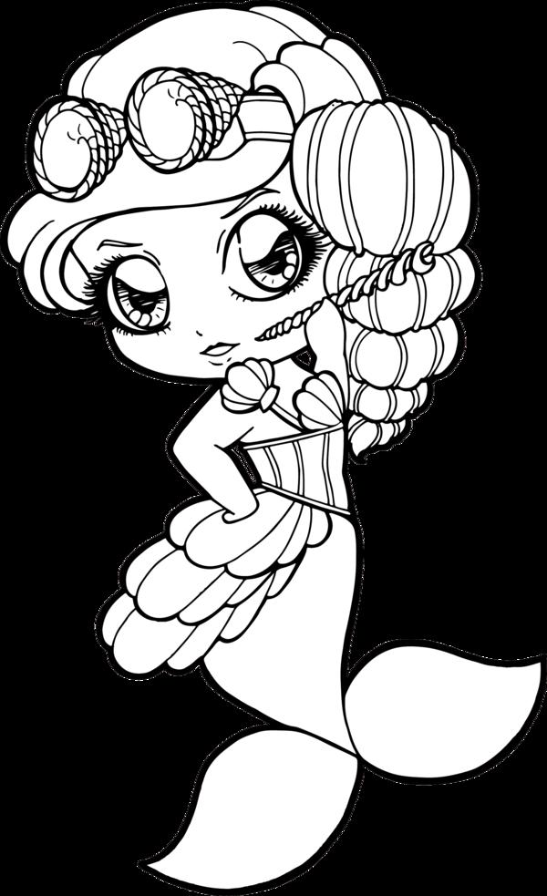 600x983 Drawing Mermaid Chibi Huge Freebie! Download For Powerpoint