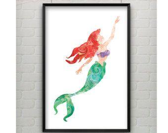 340x270 Little Mermaid Silhouette Color