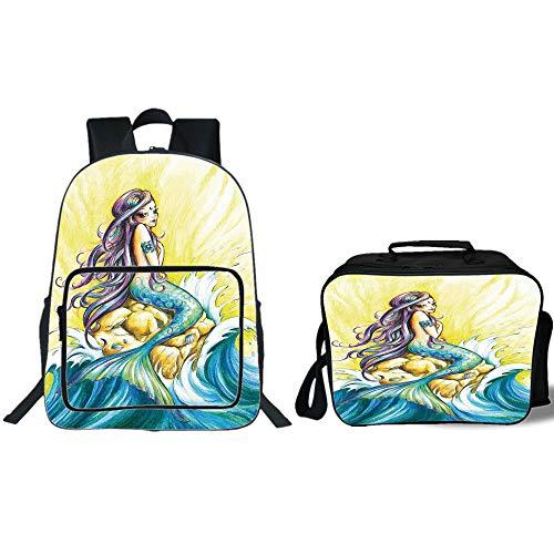 500x500 School Backpack Lunch Bag Bundle,mermaid,magical Mermaid