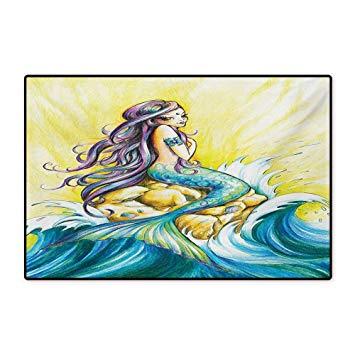 355x355 Mermaid Bath Mats For Floors Magical Mermaid Sitting