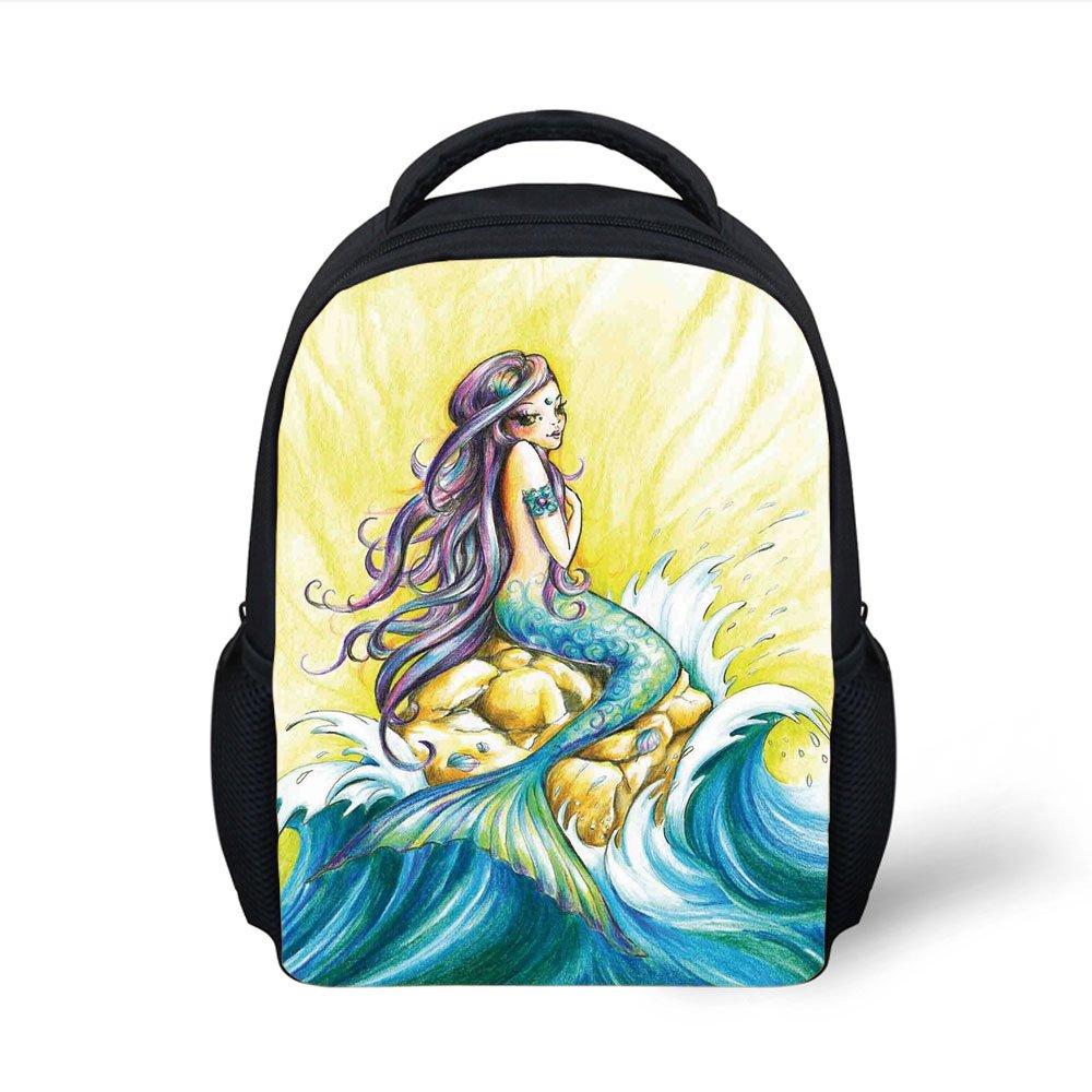 1000x1000 Iprint Kids School Backpack Mermaid,magical Mermaid