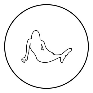 300x300 Mermaid Icon Black Color In Circle Round Outline Royalty Free