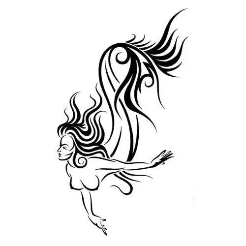 500x500 tribal mermaid mermaid tattoos mermaid tattoo designs, mermaid
