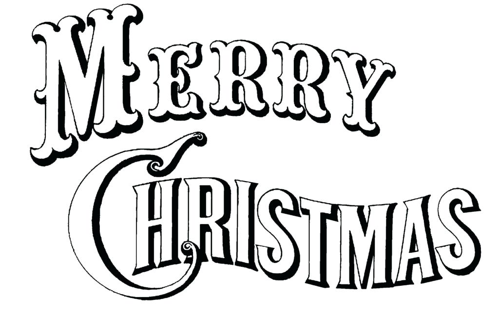 1024x690 Coloring Pages Merry Christmas Tree Coloring