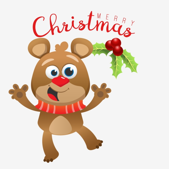 640x640 Drawing Of Bear For Christmas, Christmas, Merry, Illustration Png