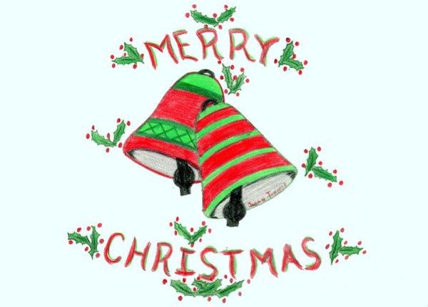 600x431 Merry Christmas Drawings
