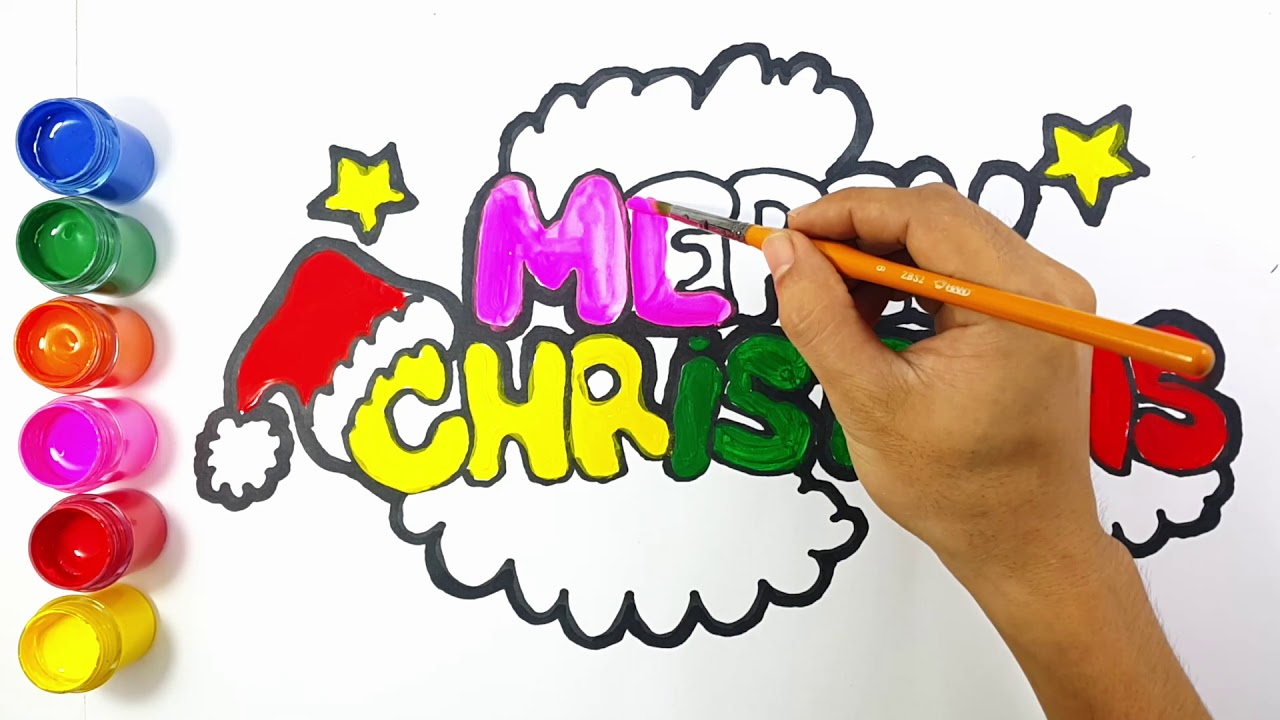 1280x720 How To Draw Merry Christmas Drawing For Kids, Art Kids