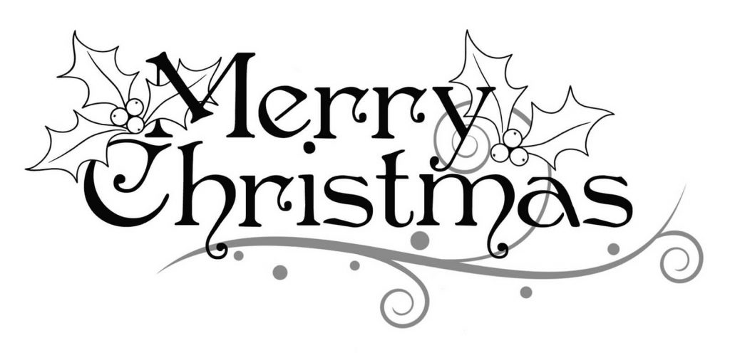 1024x506 Christmas Clipart Black And White