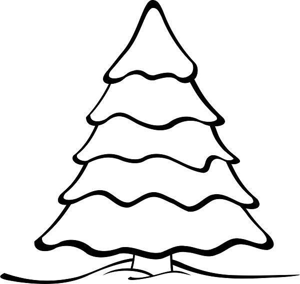 Merry Christmas Tree Drawing