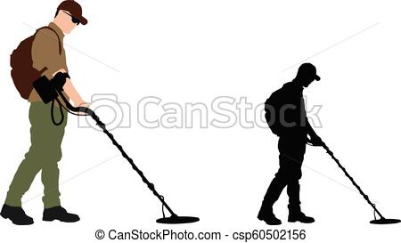 450x273 Man Using Metal Detector With Backpack