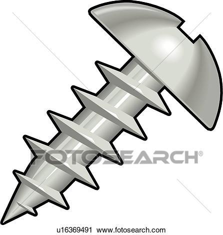 446x470 Screw Clipart