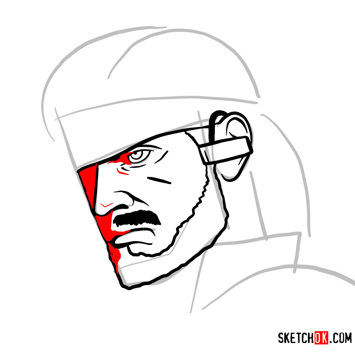 1200x1200 How To Draw Venom Snake's Face Metal Gear Solid