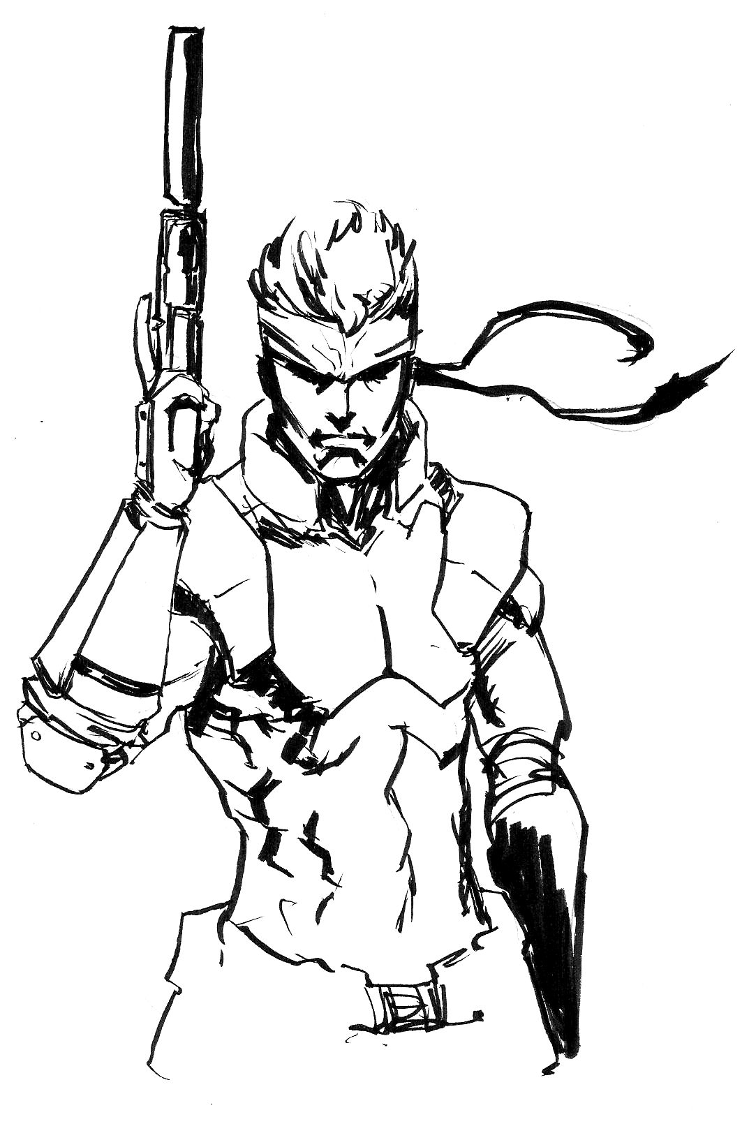 1073x1610 Metal Gear Solid Snake Alex Cipriano