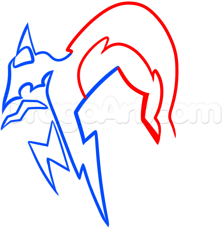 758x777 Draw The Foxhound Logo From Metal Gear Solid, Step