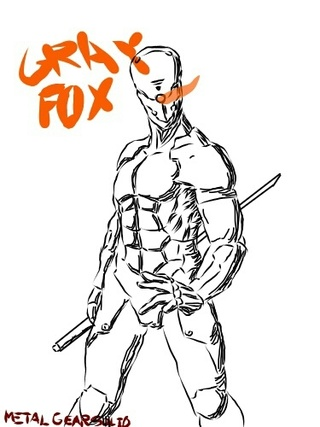 320x427 Gray Fox From Metal Gear Solid Follow Me V