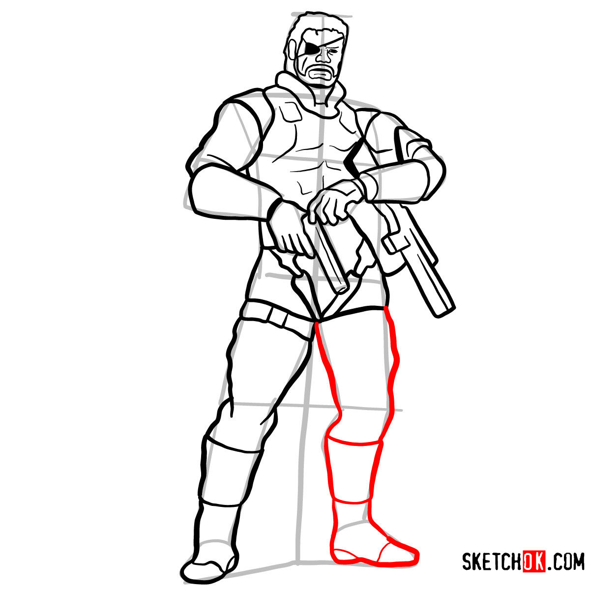 1200x1200 How To Draw Big Boss Full Growth Metal Gear Solid