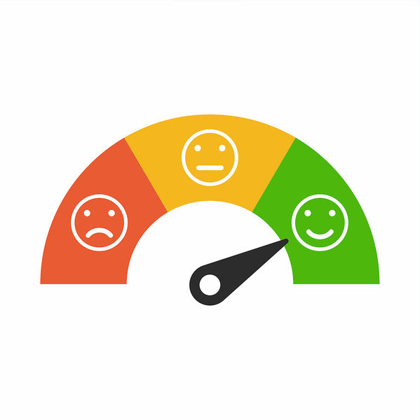 599x600 Customer Satisfaction Meter With Different Emotions, Emotions