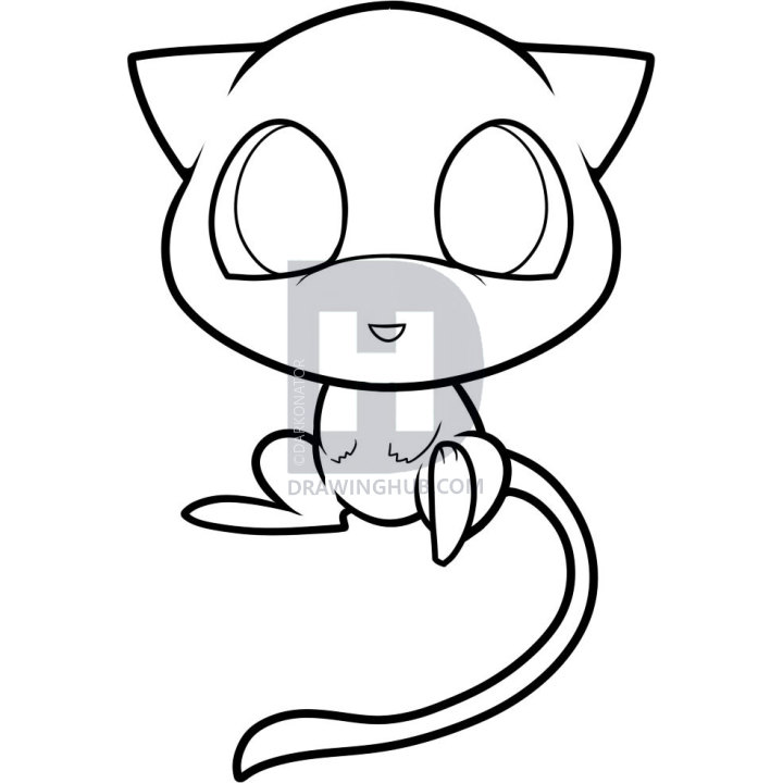 720x720 How To Draw Chibi Mew, Mew, Step